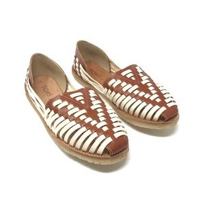 8a8036646867f Toms. NEW TOMs Huarache 9 Slip On Leather Cognac Flats